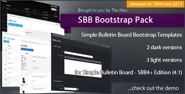 CodeCanyon Simple Bulletin Board Bootstrap Pack 5079921