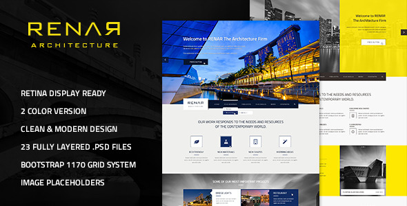 Renar - Premium Architect PSD Template - Business Corporate