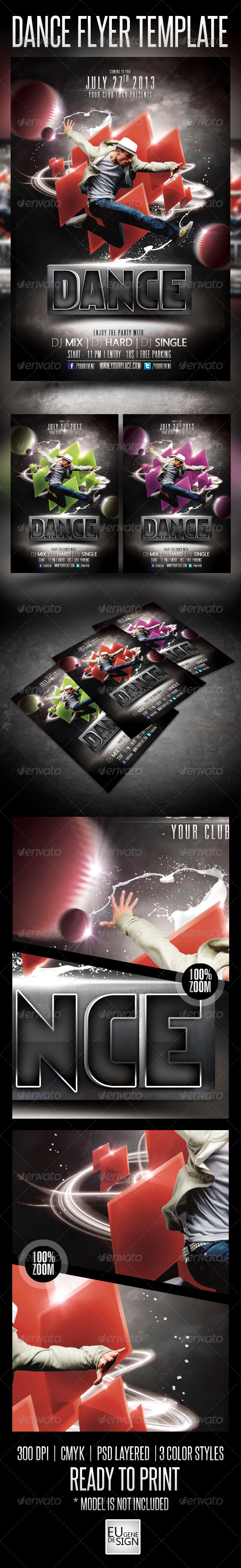 GraphicRiver Dance Flyer Template 5081182