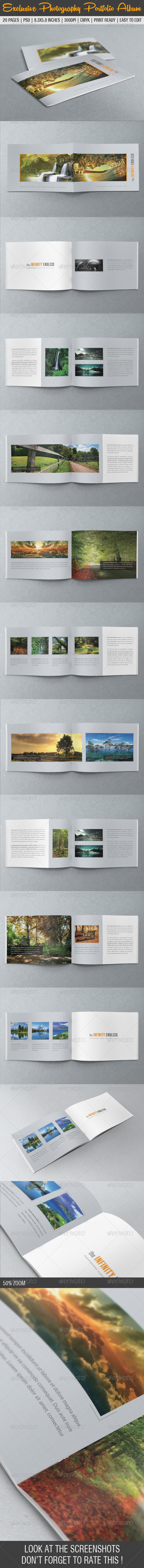 Exclusive Photography Portfolio Album - Photo Albums Print Templates