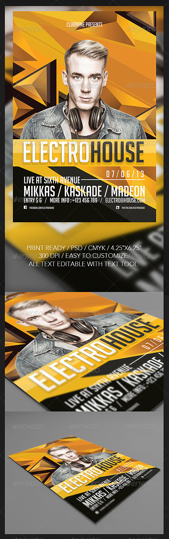 GraphicRiver Electro House Flyer 5082716