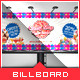 Sweet Candy Shop Billboard Template - GraphicRiver Item for Sale