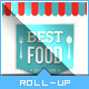 Retro Taste Food/Restaurant Roll-up Banner - GraphicRiver Item for Sale