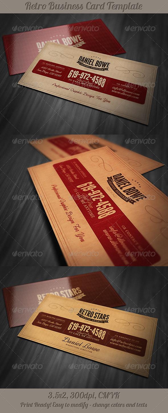 GraphicRiver Retro Business Card 5082849