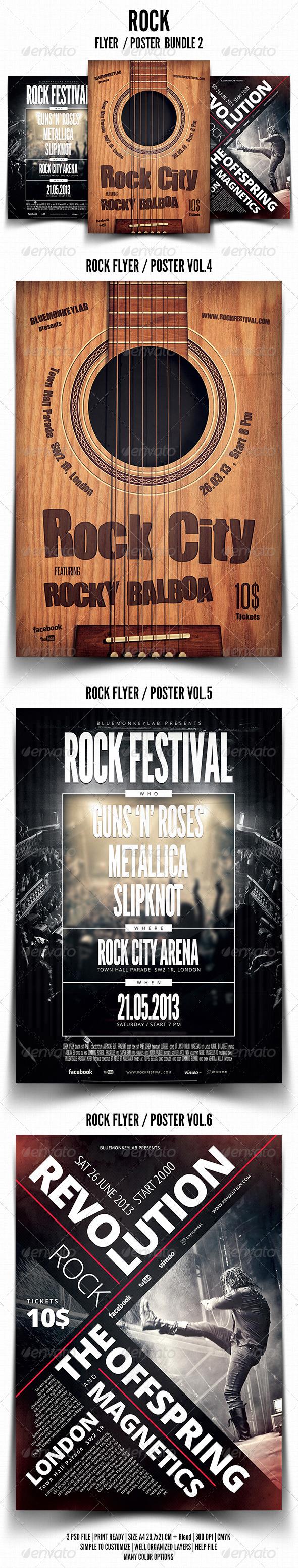 GraphicRiver Rock Flyer Poster Bundle 2 5083453