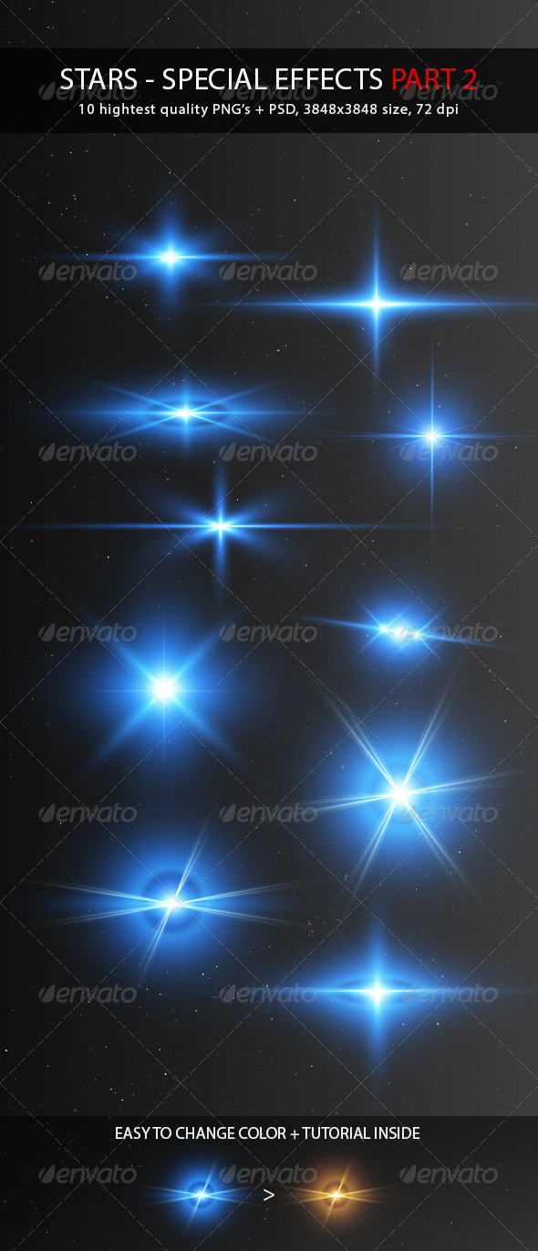 Stars - Special Effects Pack 2 - Miscellaneous Graphics