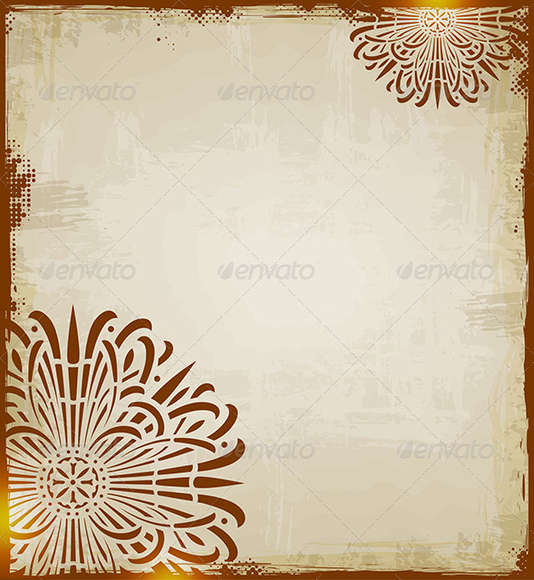GraphicRiver Vintage Ethnic Background 5084428