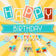 Happy Birthday Icons, Banners and Patterns - GraphicRiver Item for Sale
