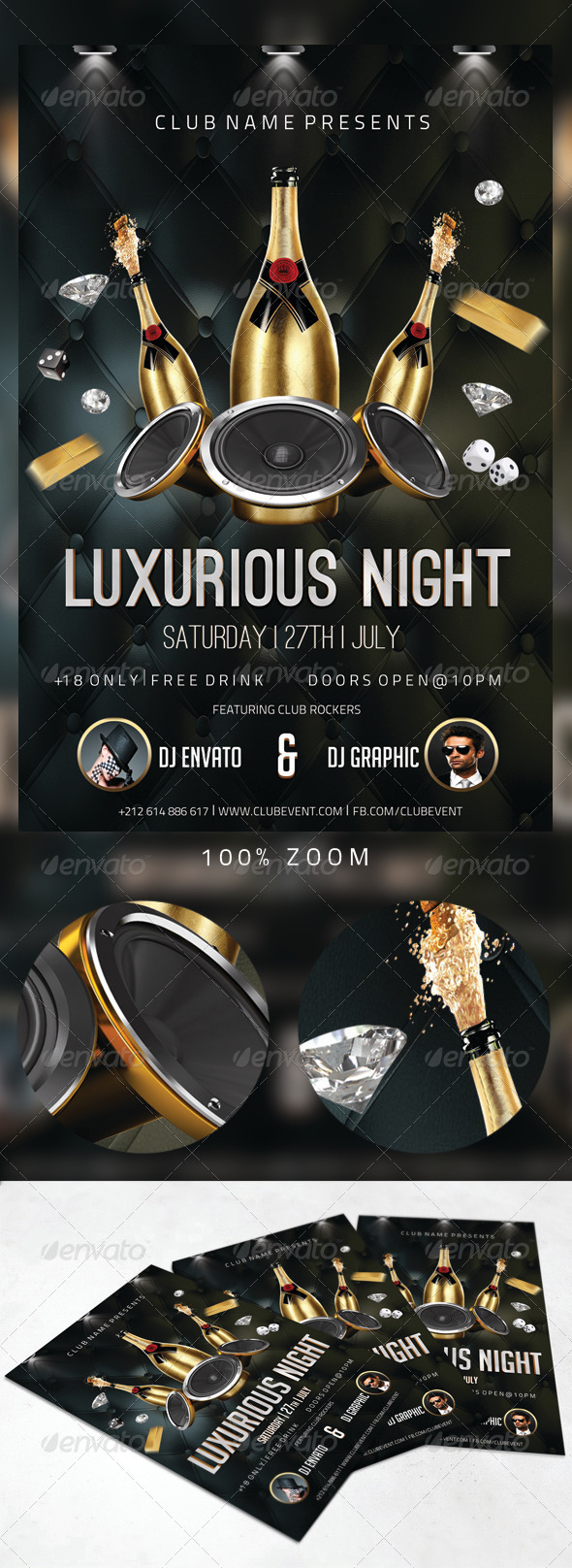 Luxurious Night Party Flyer - Clubs & Parties Events