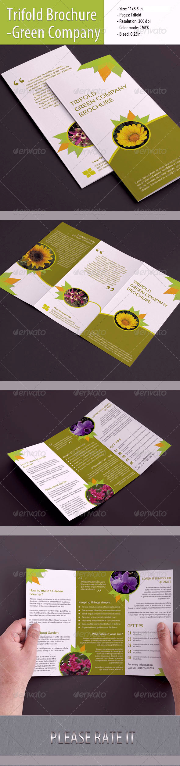 GraphicRiver Green Company 3-Fold Template 5030358