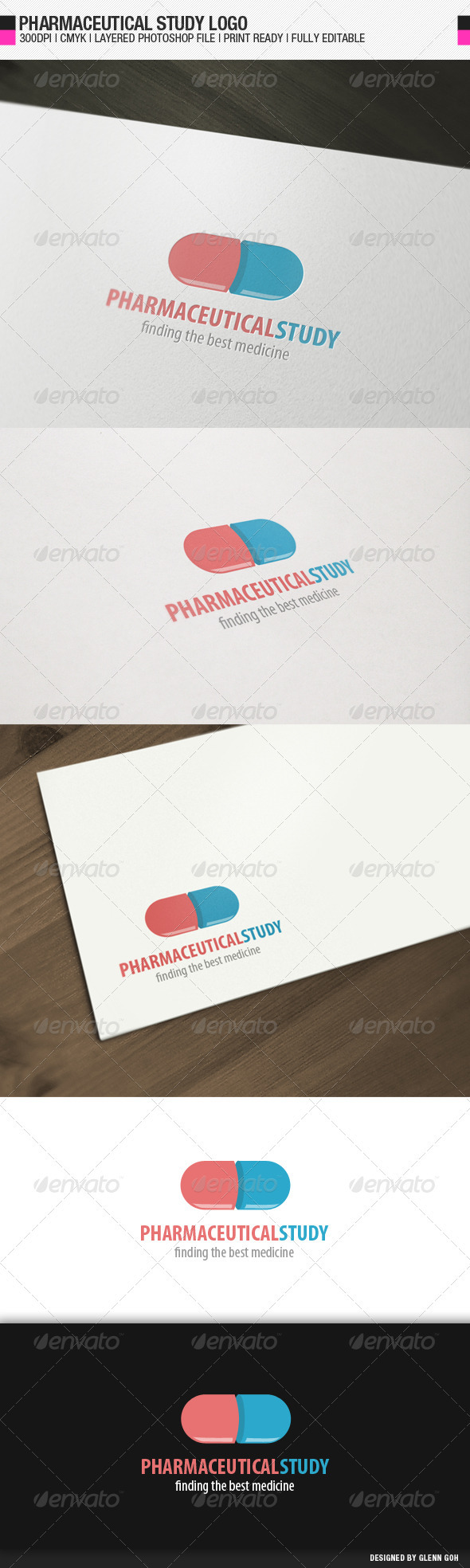 Pharmaceutical Study Logo - Objects Logo Templates