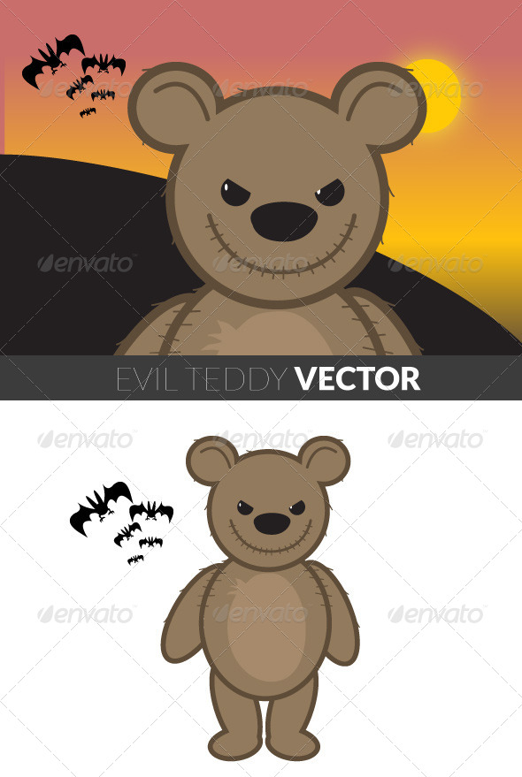 GraphicRiver Evil Teddy 5085494