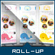 Corporate Roll-up Banner - Lovely Whale - GraphicRiver Item for Sale