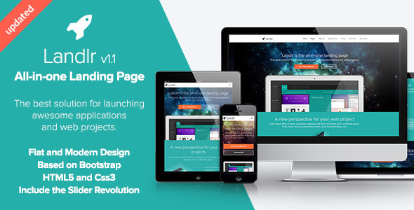 ThemeForest Landlr The All-in-One Landing Page Bootstrap 5082342
