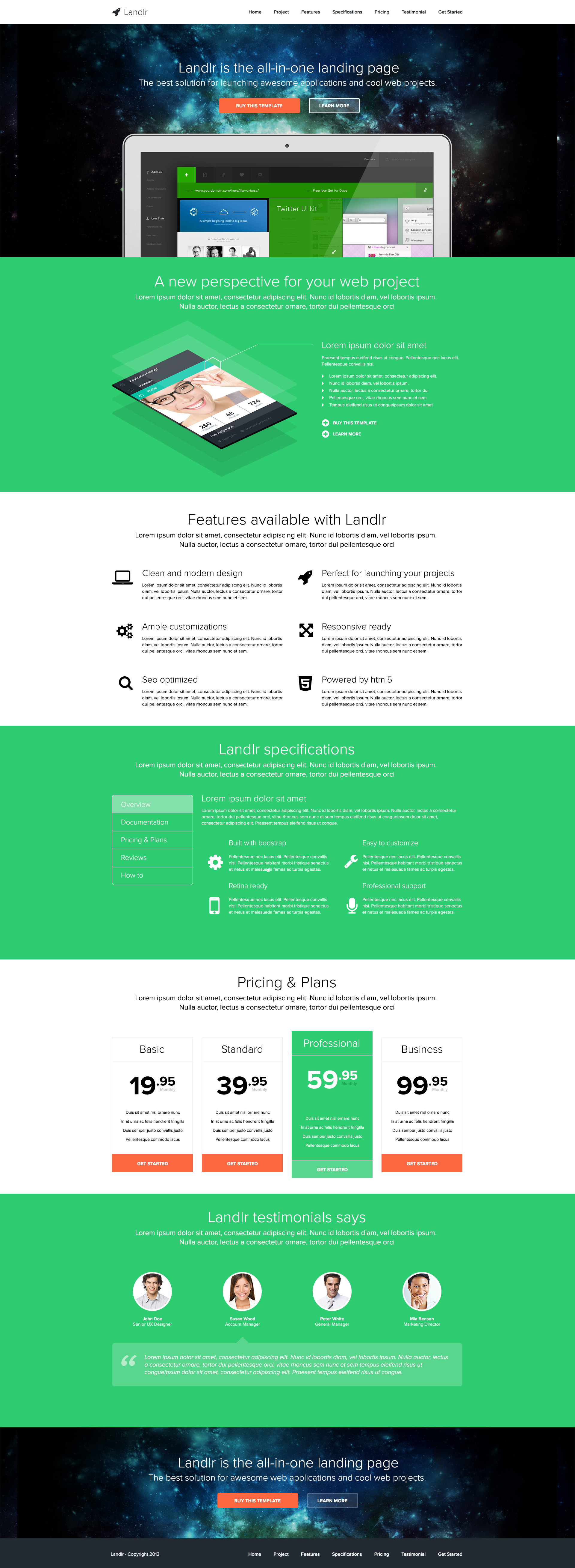 Landlr - The All-in-One Landing Page - Bootstrap