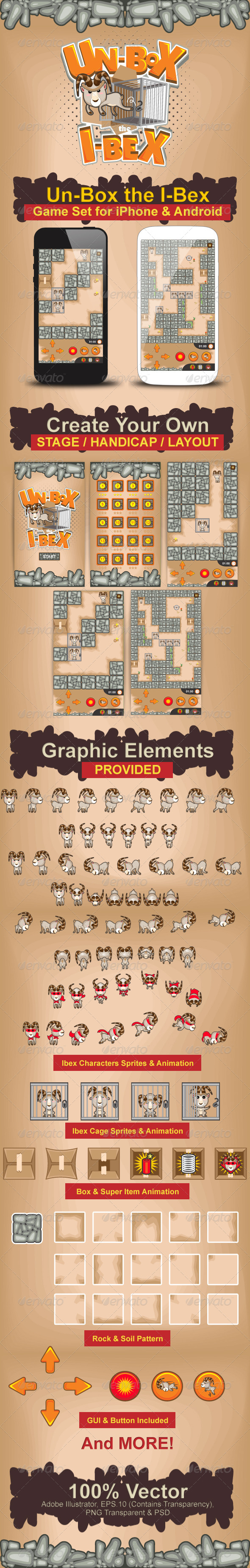 GraphicRiver Un-Box the I-Bex Game Pack Bundle Set 5070027