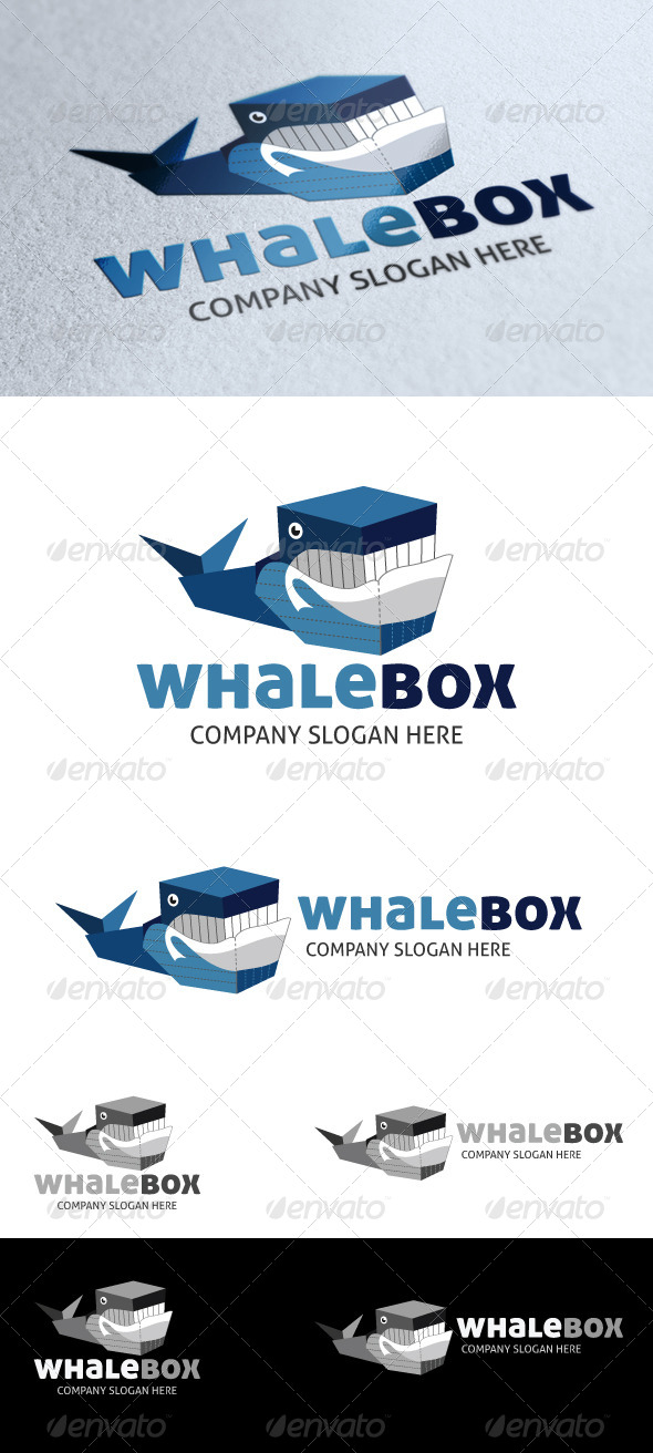 GraphicRiver Whale Box Logo 4023231