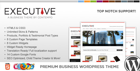 WP Executive Business & Portfolio Theme