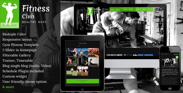 Fitness Club - Responsive Wordpress Theme