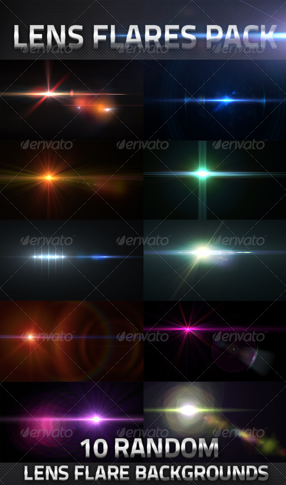 10 Lens Flares Pack - Decorative Graphics
