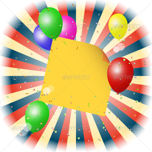 GraphicRiver Balloons Background 5087885