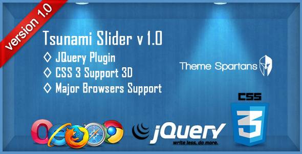 Tsunami Slider JQuery Plugin V 1.0 - WorldWideScripts.net Item para sa Sale