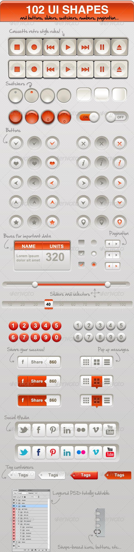 GraphicRiver 102 UI Shapes 5072889