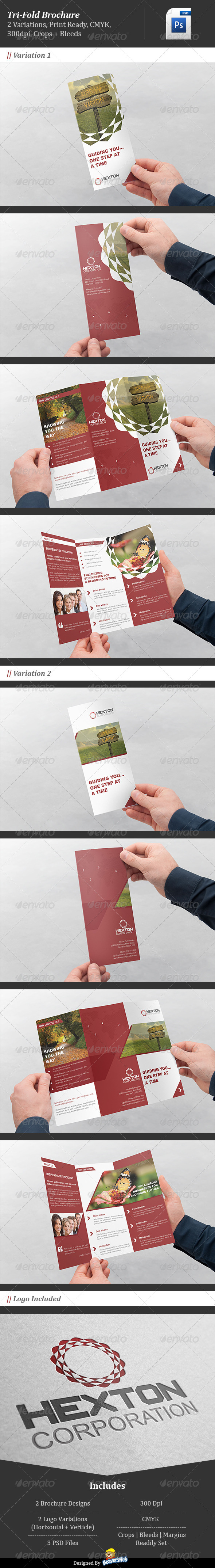GraphicRiver Corporate Trifold Brochure Hexton Corporation 5088790