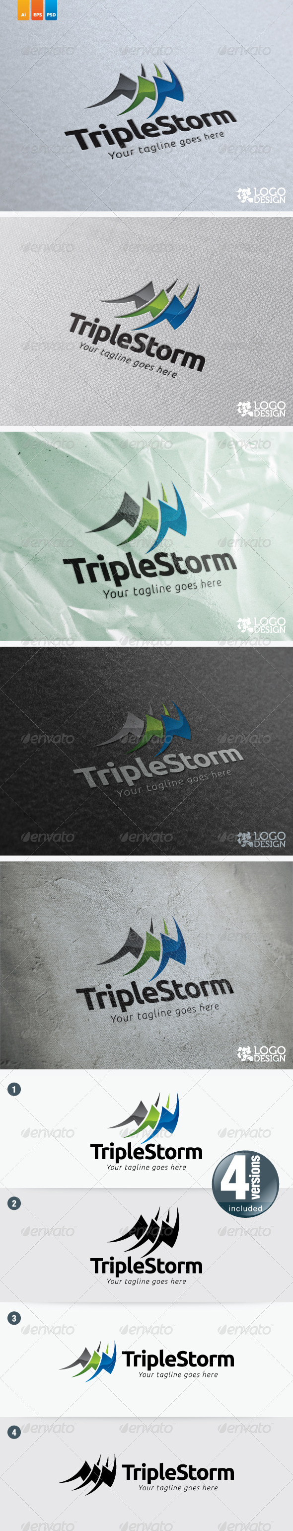 Triple Storm - Objects Logo Templates
