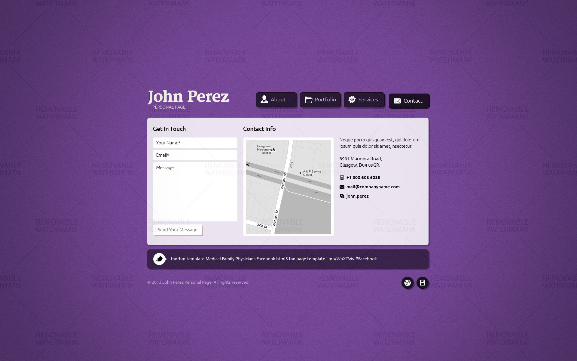 J.P. - Responsive JavaScript Animated HTML5 vCard