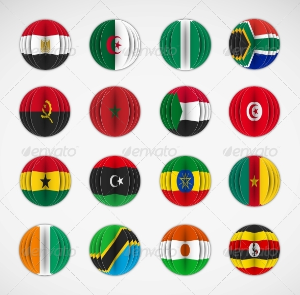 GraphicRiver Set of Flags 5089049