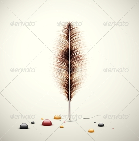 GraphicRiver Feather with Ink 5089064