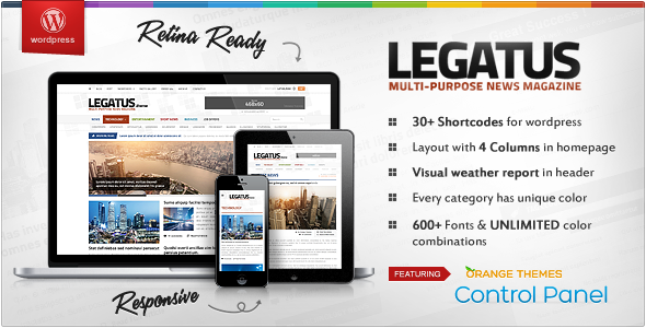 ThemeForest Legatus Responsive News Magazine Template 5089116