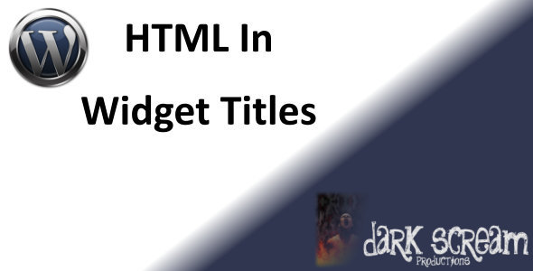 CodeCanyon HTML In WordPress Widget Titles 5089173