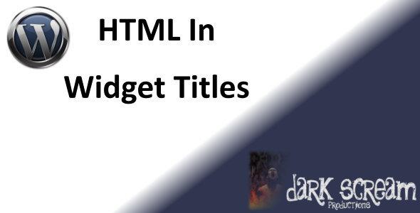 CodeCanyon HTML In WordPress Widget Titles 5089173