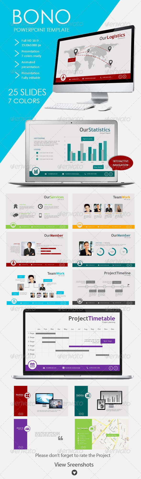 GraphicRiver Bono Powerpoint Template for Business 5089407