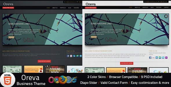 Oreva Business HTML5 Template - This is the preview page screenshot