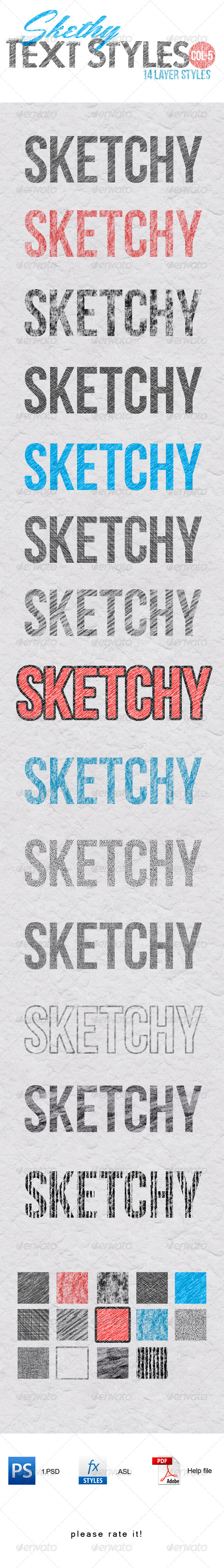 Sketchy Layer Style - Text Effects Actions