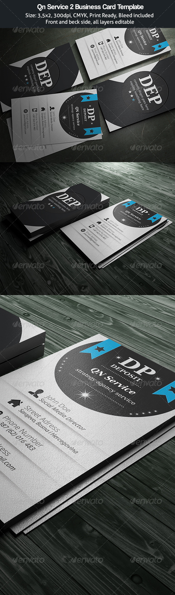GraphicRiver Business Card Qn Service II 4639679