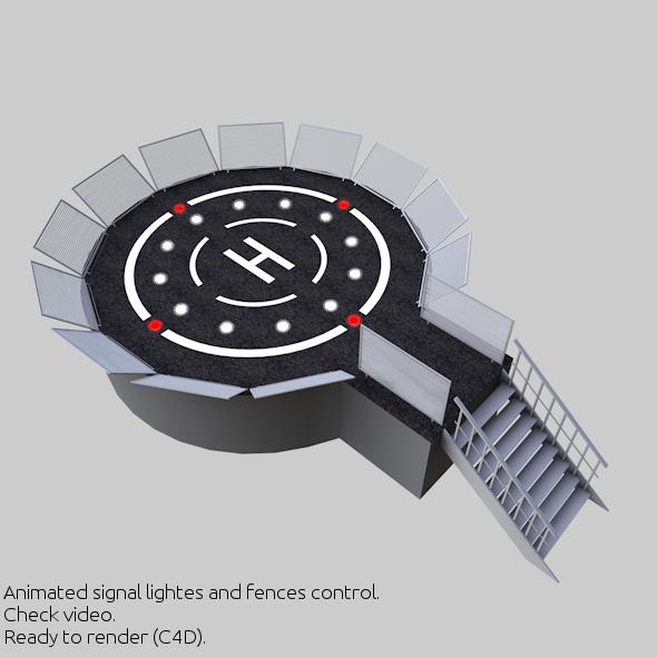 3DOcean Helipad 3D Landing Zone 2 5092635