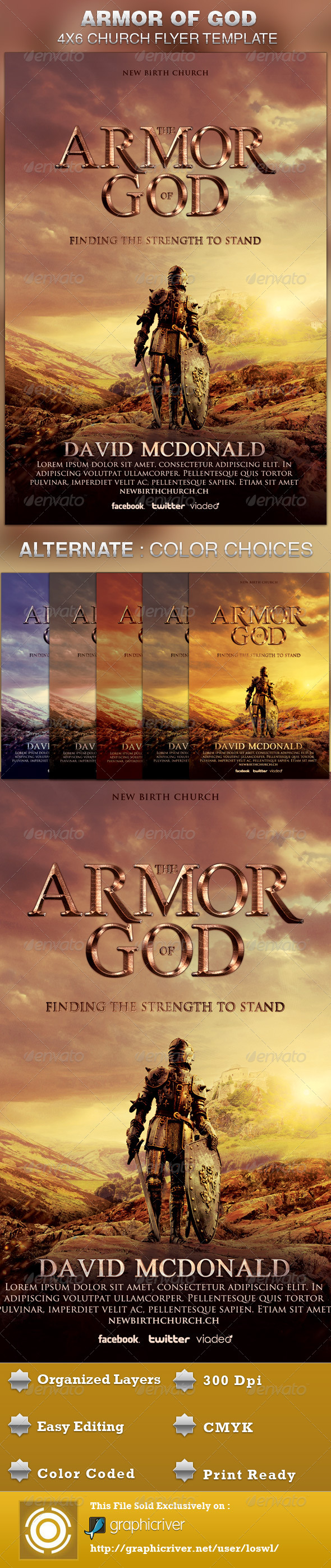 GraphicRiver Armor of God Church Flyer Template 5092943