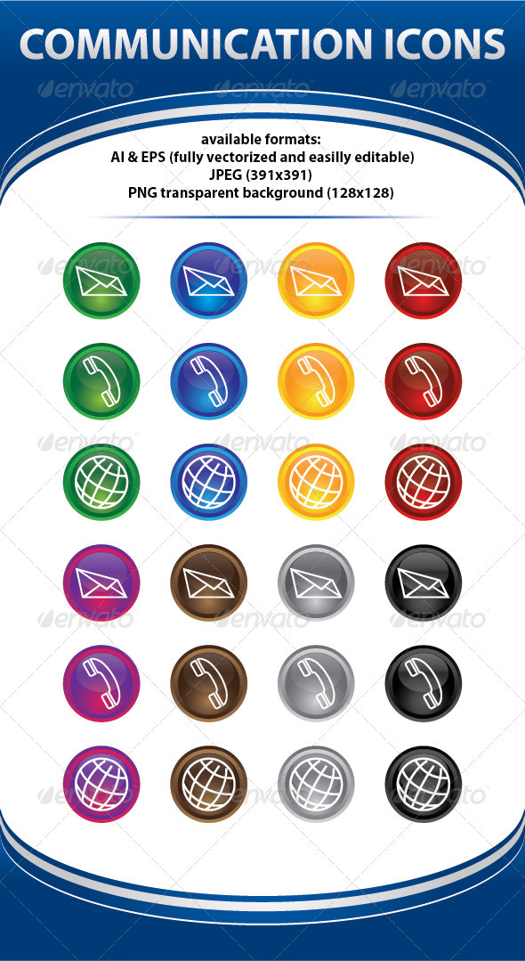 GraphicRiver Communications Icons Connection 50437