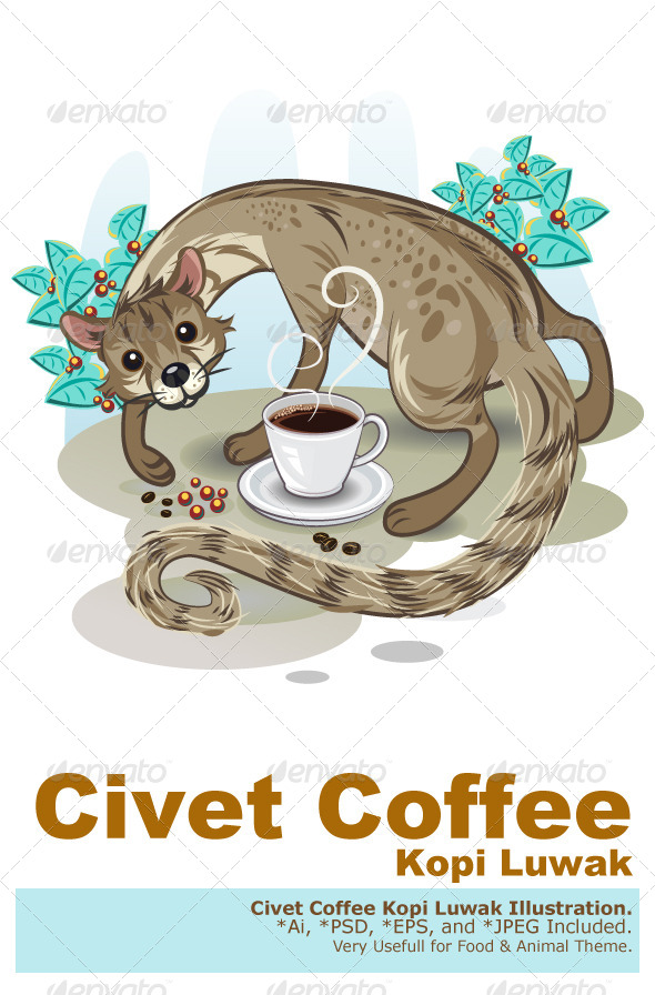 GraphicRiver Civet Coffee Kopi Luwak 5094102