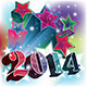 2014 to 2020 Year Card with Colorful Stars Blast - GraphicRiver Item for Sale