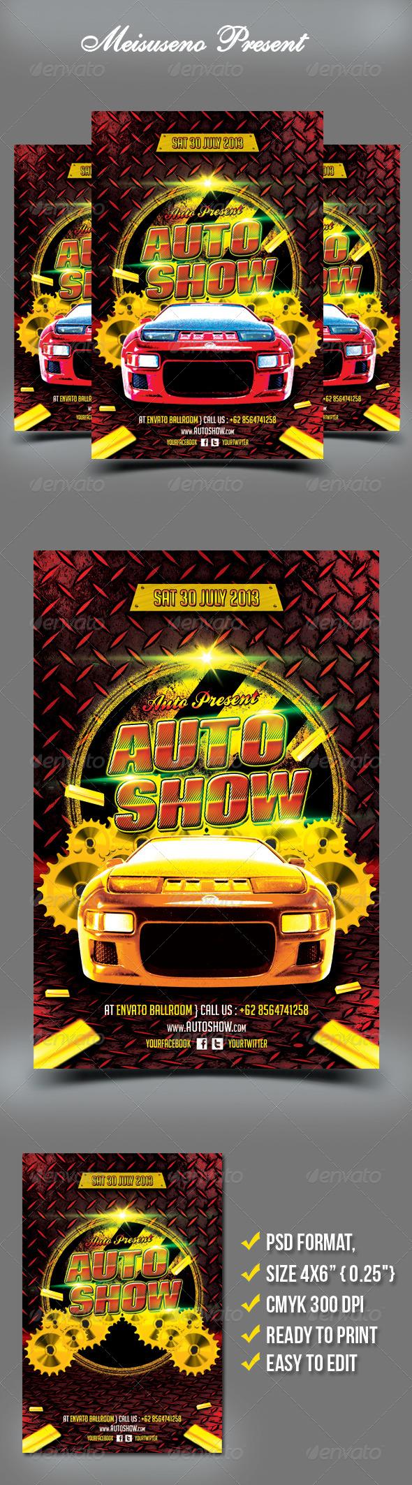 GraphicRiver Auto Show Flyer 4999243