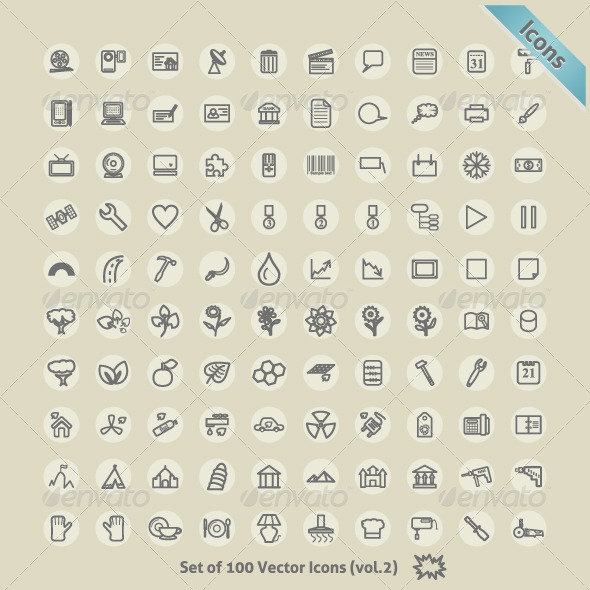 GraphicRiver Vector Icons for Design 5096804