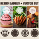 Retro Badges Vector Elements - GraphicRiver Item for Sale