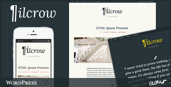 Pilcrow - AJAX powered WordPress Blog Theme - Personal Blog / Magazine