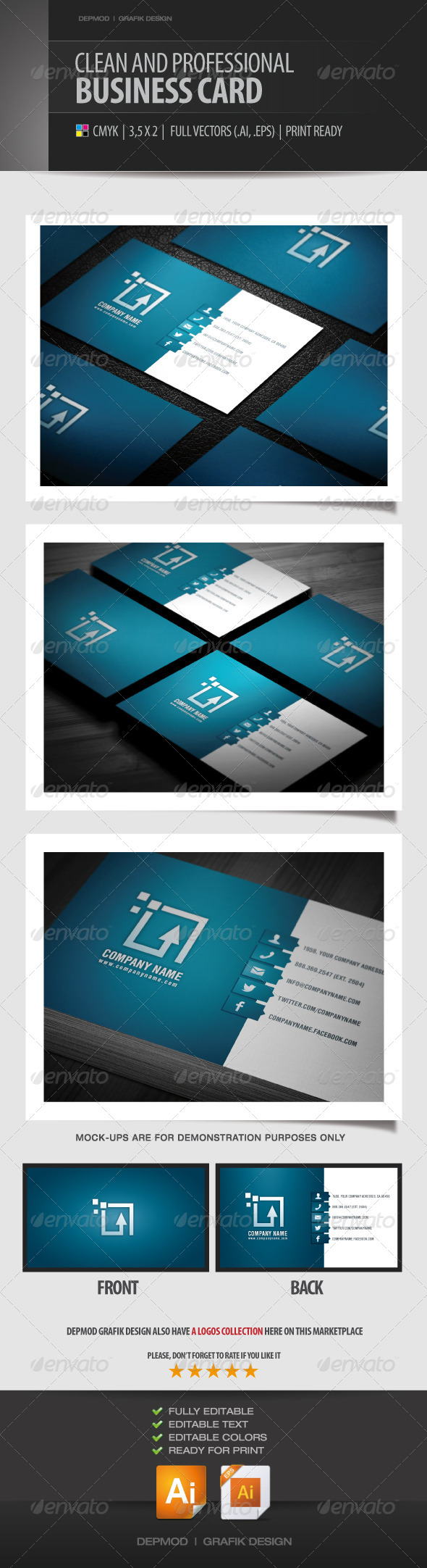 Corporate And Professional Business Card - Corporate Business Cards