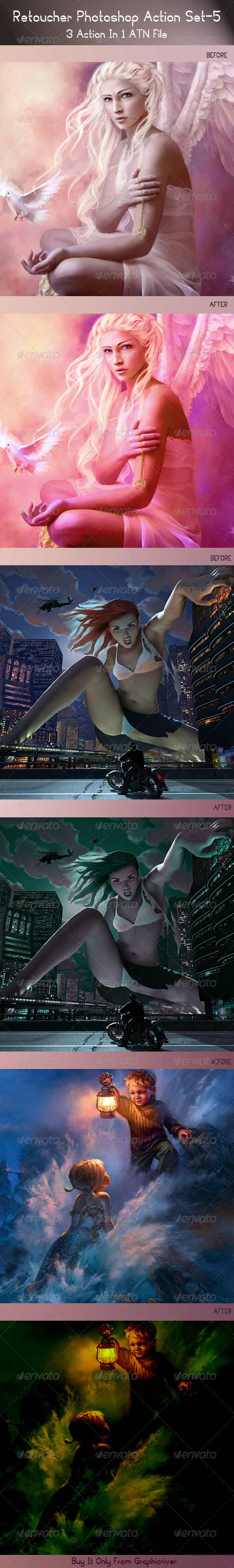 GraphicRiver Premium Retoucher Photoshop Action Set 5 5099205
